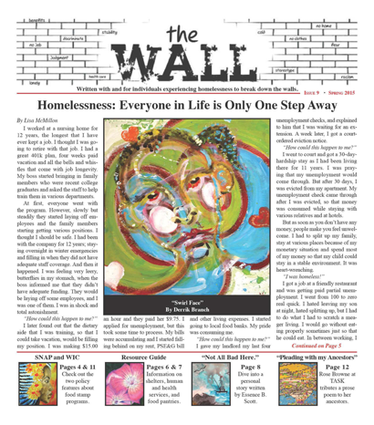 Spring Edition Homeless Newspaper The Wall