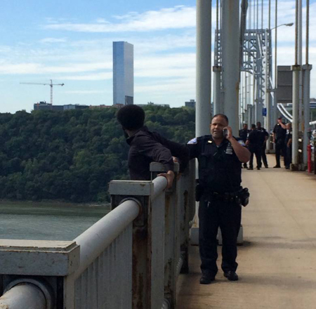 Rescue suicidal man from GWB