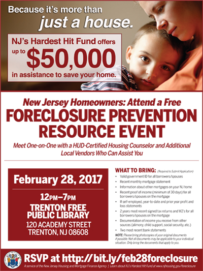 Trenton Foreclosure Assistance Workshop