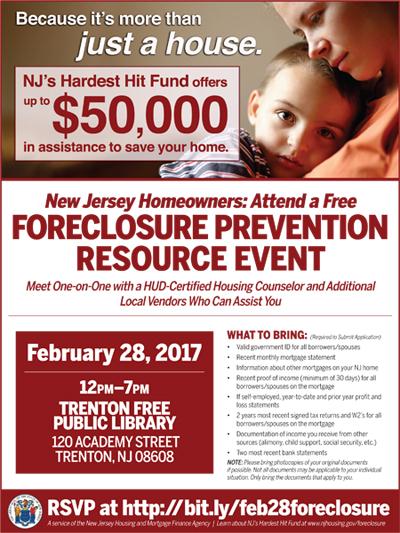 Trenton Foreclosure Assistance Workshop