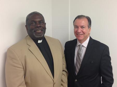 Executive Director Frank Cirillo and Pastor Rupert Hall